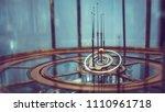 celestial orbit model   Shutterstock . vector #1110961718