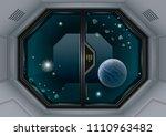 glass sliding gates lab or... | Shutterstock .eps vector #1110963482