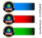 three multi colored home icons...   Shutterstock . vector #111096608
