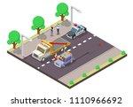 car accident concept vector...   Shutterstock .eps vector #1110966692