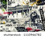 berlin  germany. vintage... | Shutterstock . vector #1110966782