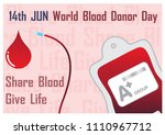 group a  blood bag and... | Shutterstock .eps vector #1110967712