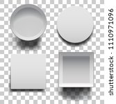 open boxes with lids set on...   Shutterstock .eps vector #1110971096