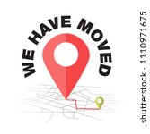 we have moved  changed address... | Shutterstock .eps vector #1110971675