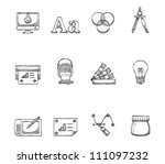 printing   graphic design icon  ... | Shutterstock .eps vector #111097232