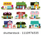 family house icon. home symbol. ... | Shutterstock .eps vector #1110976535