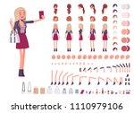 young woman creation set.... | Shutterstock .eps vector #1110979106