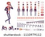 young man creation set.... | Shutterstock .eps vector #1110979112