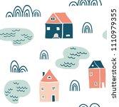 seamless landscape pattern.... | Shutterstock .eps vector #1110979355