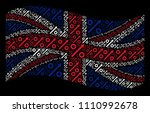 waving uk official flag on a... | Shutterstock .eps vector #1110992678