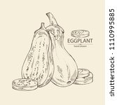 eggplant  full eggplant  a... | Shutterstock .eps vector #1110995885