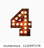number 4. realistic rusty light ... | Shutterstock . vector #1110997178
