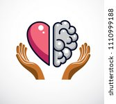 heart and brain concept ... | Shutterstock .eps vector #1110999188