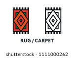 rug carpet floor mat pattern.... | Shutterstock .eps vector #1111000262