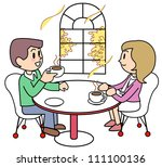 coffee shop two people | Shutterstock . vector #111100136