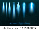 set of neon searchlights on a... | Shutterstock .eps vector #1111002005