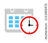 vector calendar events...   Shutterstock .eps vector #1111003472
