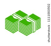 vector money icon. dollar money ... | Shutterstock .eps vector #1111003502