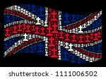 waving united kingdom official... | Shutterstock .eps vector #1111006502