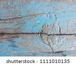 crack blue wood texture... | Shutterstock . vector #1111010135