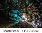 ice cave in vatnajokull ... | Shutterstock . vector #1111010852