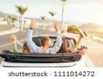 happy friends having fun in... | Shutterstock . vector #1111014272