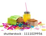 festive composition drinks... | Shutterstock . vector #1111029956
