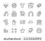 set of vector casino line icon  ... | Shutterstock .eps vector #1111032092
