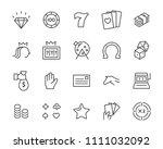 set of vector casino line icon  ... | Shutterstock .eps vector #1111032092