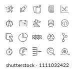 simple set of vector line icon  ... | Shutterstock .eps vector #1111032422
