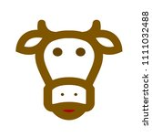 cow animal silhouette beef ... | Shutterstock .eps vector #1111032488