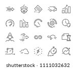 simple set of vector line icon  ... | Shutterstock .eps vector #1111032632