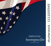 4th of july. usa independence... | Shutterstock .eps vector #1111035545