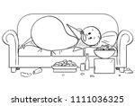 cartoon stick drawing... | Shutterstock .eps vector #1111036325