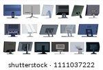 monitor set vector. modern... | Shutterstock .eps vector #1111037222