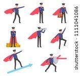 set of policeman characters... | Shutterstock .eps vector #1111041086