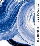 blue creative abstract hand... | Shutterstock . vector #1111042772
