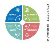 corporate social responsibility ... | Shutterstock .eps vector #1111047125