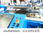 laser cutting machine with... | Shutterstock . vector #1111051235