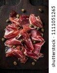 traditional spanish jamon...   Shutterstock . vector #1111051265