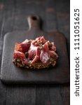 traditional spanish jamon...   Shutterstock . vector #1111051625