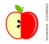 apple icon  vector fruit... | Shutterstock .eps vector #1111060322