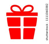 vector christmas present... | Shutterstock .eps vector #1111060382