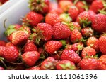 strawberry. strawberries in... | Shutterstock . vector #1111061396