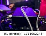 broken car audio player in... | Shutterstock . vector #1111062245