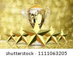 the five golded star with gold... | Shutterstock . vector #1111063205