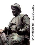 detail of cervantes monument... | Shutterstock . vector #111106382