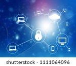 cloud networking security... | Shutterstock . vector #1111064096
