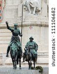 cervantes monument placed on... | Shutterstock . vector #111106682