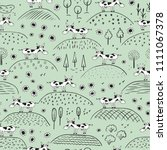 Funny Cow Seamless Pattern....